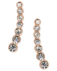 Anne Klein | Metallic Linear Crystal Ear Cuff Earrings | Lyst