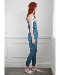 Forever 21 - Blue Ditsy Floral Print Jumpsuit You've Been Added To The Waitlist - Lyst