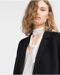 Zara | Black Hand Made Coat | Lyst
