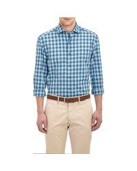 Barneys New York | Blue Plaid Shirt for Men | Lyst
