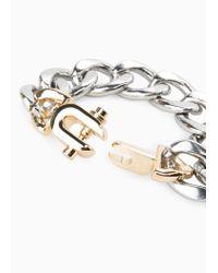 Mango | Metallic Link Bracelet | Lyst