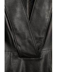 Givenchy - Black Deepv Leather Dress - Lyst