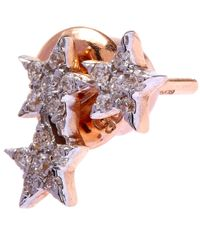 Kismet by Milka | Metallic Gold Wonder Woman Three-star Diamond Stud Earrings | Lyst