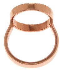 Monica Vinader - Metallic Rose Gold-plated Diamond Naida Circle Open Ring - Lyst