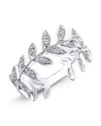Anne Sisteron | 14kt White Gold Diamond Wreath Ring | Lyst