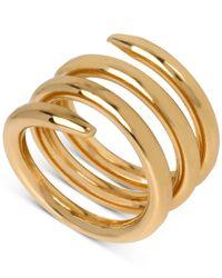 Robert Lee Morris - Metallic Bronze-tone Spiral Ring - Lyst