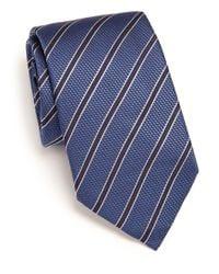 Corneliani - Blue Striped Silk Tie for Men - Lyst