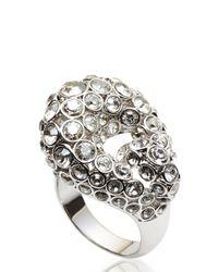 Swarovski | Metallic Silver-Tone & Crystal Ring Size 8 | Lyst