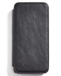 Sena - Black 'heritage Wallet Book' Leather Iphone 6 & 6s Case for Men - Lyst