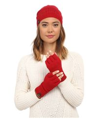 UGG - Multicolor Classic Sequin Trimmed Beanie And Tech Fingerless Set - Lyst