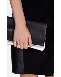 Karen Millen - Multicolor Hammered Hoop Stacking Ring - Lyst