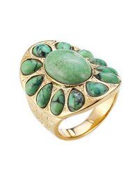 Aurelie Bidermann   Metallic Gold-plated Ring   Lyst
