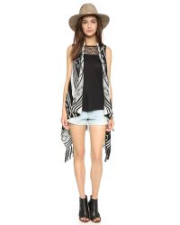 BB Dakota - Jack By Damen Fringe Vest - Black - Lyst