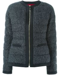 Moncler Gamme Rouge - Gray Quilted Bouclé-Knit Jacket - Lyst