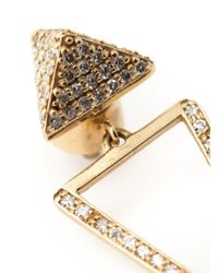 Ileana Makri - Metallic 'bermuda Triangle' Diamond Earrings - Lyst
