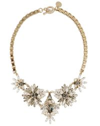 Anton Heunis | Metallic Gold Plated Swarovski Crystal Necklace | Lyst