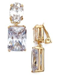 Lauren by Ralph Lauren | Metallic Double Drop Earrings | Lyst
