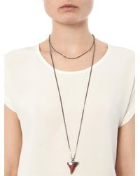 Givenchy - Red Doublechain Sharks Tooth Necklace - Lyst