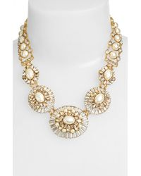 kate spade new york | Natural Faux Pearl & Crystal Necklace - Cream Multi | Lyst