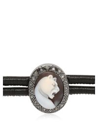 Amedeo | Black Sardonyx Leopard Cameo Bracelet | Lyst