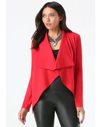 Bebe | Red Waterfall Jacket | Lyst