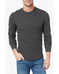 7 For All Mankind - Gray Crew Neck Sweater for Men - Lyst