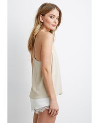 Forever 21 | Natural Braided Y-back Cami | Lyst