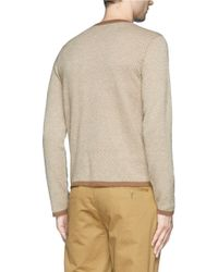 Armani - Natural Cashmere Sweater for Men - Lyst