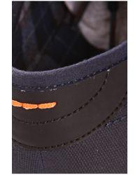BOSS Orange - Blue Fabric-blend Sneakers 'soundtrak' for Men - Lyst