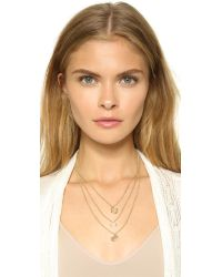 Tory Burch - Metallic Leather Woven Chain Necklace Goldgolden - Lyst