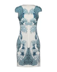 Just Cavalli - Blue Wave Print Stretch Jersey Dress - Lyst