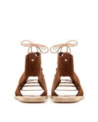 Ancient Greek Sandals | Brown Mache Suede Sandals | Lyst