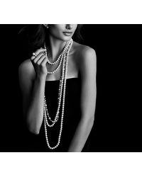 David Yurman - White Pearl Necklace With Diamonds - Lyst