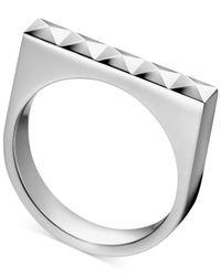 Calvin Klein | Metallic Stainless Steel Stud Ring | Lyst