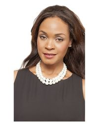 Kenneth Jay Lane - White Elle Pearl Necklace - Lyst