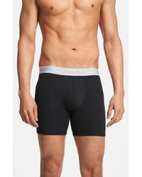 Calvin Klein | Black 'superior' Cotton Blend Boxer Briefs for Men | Lyst