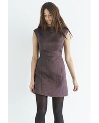 Oasis - Gray Jacquard Shift Dress - Lyst