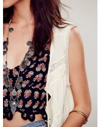 Free People - Natural Reversible Faux Fur Vest In Almond - Lyst