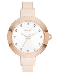 DKNY | Pink 'stanhope' Bangle Watch | Lyst