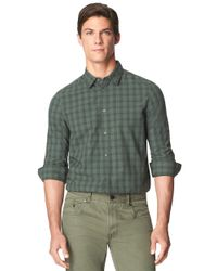 Calvin Klein Jeans | Green Cotton Roll-tab Sleeve Button Down for Men | Lyst