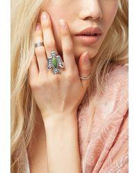 Forever 21 - Green Peyote Bird Turquoise Thunderbird Ring - Lyst