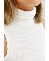 Silence + Noise - White Nolita Turtleneck Tank Top - Lyst