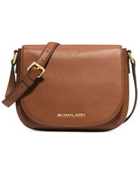 Michael Kors | Brown Michael Bedford Medium Flap Messenger | Lyst