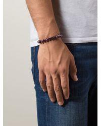 Joseph Brooks | Purple Beaded Bracelet for Men | Lyst