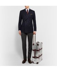 "Globe-Trotter | Metallic + Ekocycle™ 21"" Leather-trimmed Aluminium Trolley Case for Men 