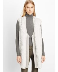 Vince | White Sweater Backed Fur Vest | Lyst