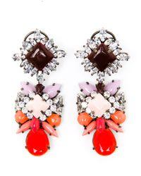 Shourouk - Multicolor Blondie Crystal And Enamel Beaded Earrings - Lyst