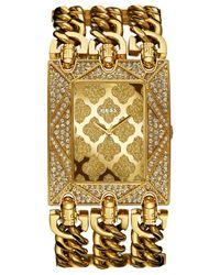 Guess | Metallic Women'S Gold-Tone Chain Bracelet Watch 48X40Mm U0580L1 | Lyst