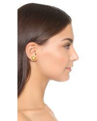 kate spade new york   Metallic Pretty Petals Large Stud Earrings   Lyst