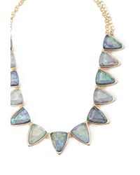 Forever 21 | Blue Geo Faux Gemstone Statement Necklace You've Been Added To The Waitlist | Lyst